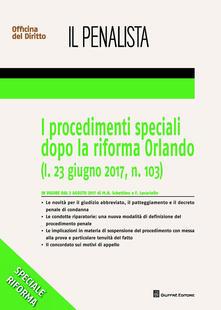I procedimenti speciali dopo la riforma Orlando - Federico Lucariello,Maria Hilda Schettino - copertina