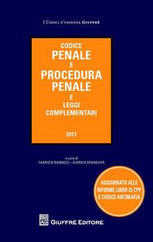 Codice penale e procedura penale e leggi complementari - copertina