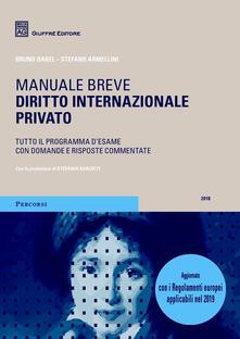 Diritto internazionale privato - Bruno Barel,Stefano Armellini - copertina