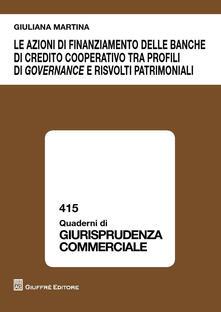 Promoartpalermo.it Le azioni di finanziamento delle banche di credito cooperativo tra profili di governance e risvolti patrimoniali Image