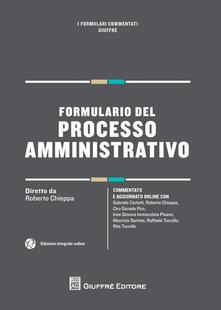 Formulario del processo amministrativo - copertina