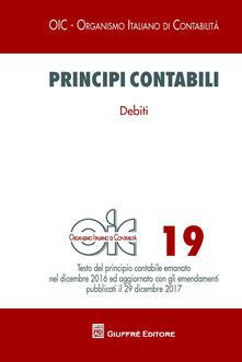Principi contabili. Vol. 19: Debiti. - copertina