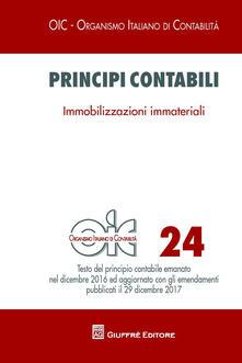 Principi contabili. Vol. 24: Immobilizzazioni immateriali. - copertina
