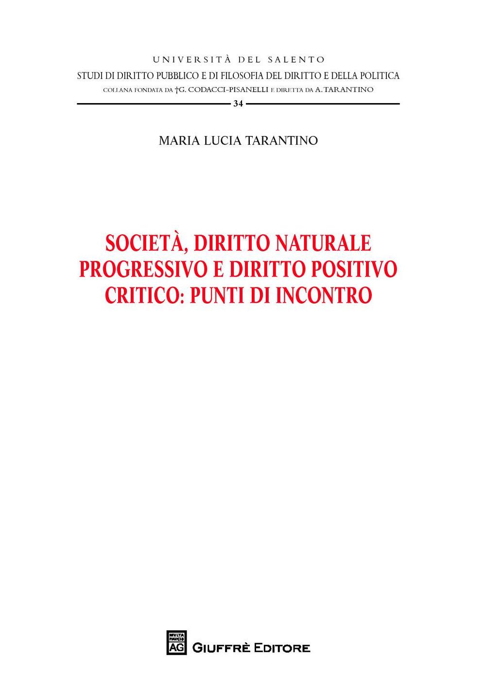 Image of Società, diritto naturale progressivo e diritto positivo critico: punti di incontro