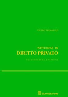 Istituzioni di diritto privato - Pietro Trimarchi - copertina