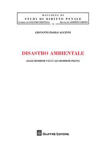 Disastro ambientale. Dall'horror vacui all'horror pleni - Giovanni Paolo Accinni - copertina