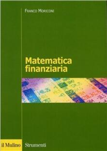 Matematica finanziaria - Franco Moriconi - copertina