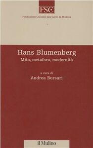 Libro Hans Blumenberg. Mito, metafora, modernità