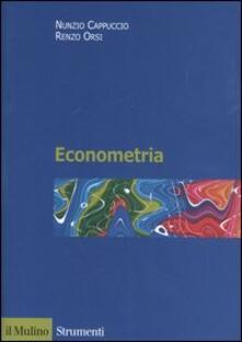 Econometria - Nunzio Cappuccio,Renzo Orsi - copertina