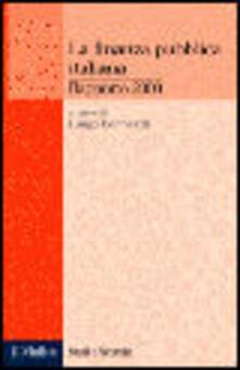 Librisulrazzismo.it La finanza pubblica italiana. Rapporto 2000 Image