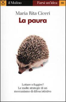 La paura - Maria Rita Ciceri - copertina