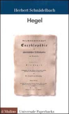 Hegel - Herbert Schnädelbach - copertina