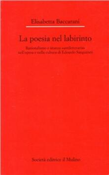 Premioquesti.it La poesia nel labirinto. Razionalismo e istanza «antiletteraria» nell'opera e nella cultura di Edoardo Sanguineti Image