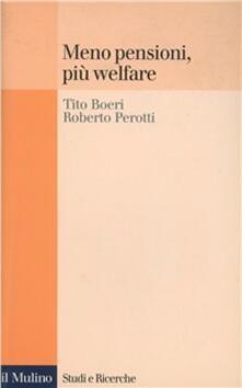 Ristorantezintonio.it Meno pensioni, più welfare Image