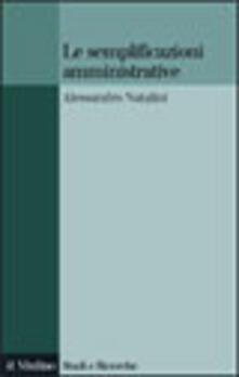 Le semplificazioni amministrative - Alessandro Natalini - copertina
