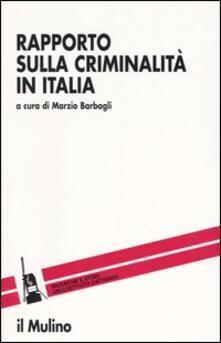 Rapporto sulla criminalità in Italia - copertina