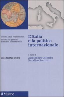 L' Italia e la politica internazionale 2004 - copertina