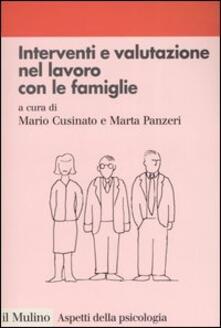 Interventi e valutazione nel lavoro con le famiglie - copertina