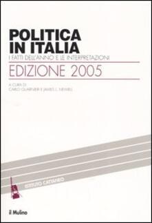Politica in Italia. I fatti dell'anno e le interpretazioni (2005) - copertina
