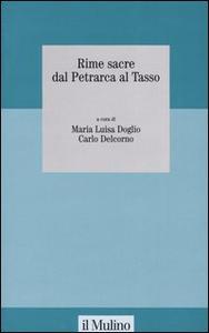 Libro Rime sacre dal Petrarca al Tasso