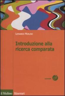 Introduzione alla ricerca comparata - Leonardo Morlino - copertina