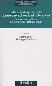 Foto Cover di L' efficacia delle politiche di sostegno agli studenti universitari. L'esperienza italiana nel panorama internazionale, Libro di  edito da Il Mulino