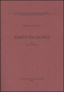 Libro Scritti filosofici Ernesto De Martino