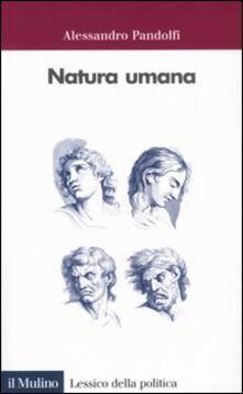 Natura umana - Alessandro Pandolfi - copertina