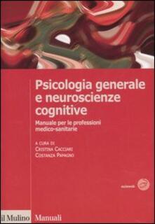 Premioquesti.it Psicologia generale e neuroscienze cognitive. Manuale per le professioni medico-sanitarie Image