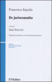 Grandtoureventi.it De jurisconsulto. Testo latino a fronte Image