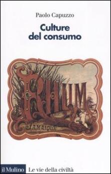 Culture del consumo - Paolo Capuzzo - copertina