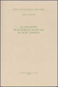 Il concetto di materiale musicale in Th. W. Adorno