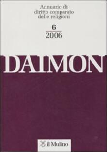Daimon. Annuario di diritto comparato delle religioni (2006). Vol. 6 - copertina