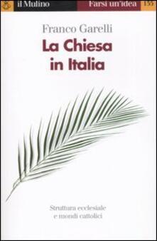 La Chiesa in Italia - Franco Garelli - copertina