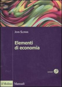 Elementi di economia - John Sloman - copertina