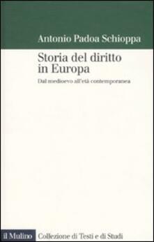 Voluntariadobaleares2014.es Storia del diritto in Europa. Dal medioevo all'età contemporanea Image