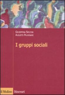 I gruppi sociali - Giuseppina Speltini,Augusto Palmonari - copertina