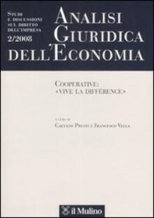 Camfeed.it Analisi giuridica dell'economia (2008). Vol. 2: Cooperative: «vive la différence». Image