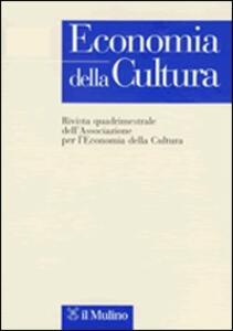 Economia della cultura (2008). Vol. 1 - copertina