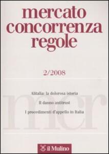 Mercato concorrenza regole (2008). Vol. 2 - copertina