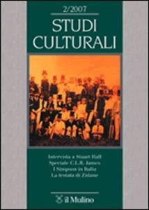Studi culturali (2008). Vol. 1 - copertina