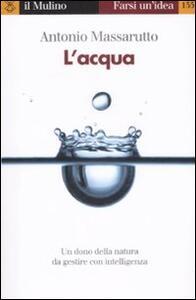 L' acqua - Antonio Massarutto - copertina