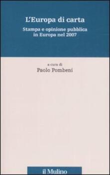 Amatigota.it L' Europa di carta. Stampa e opinione pubblica in Europa nel 2007 Image