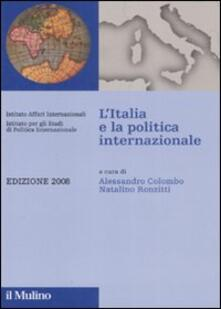 Writersfactory.it L' Italia e la politica internazionale 2008 Image