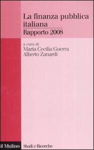 La finanza pubblica italiana. Rapporto 2008 - copertina