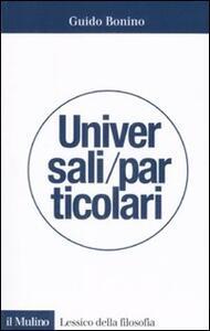 Universali/particolari - Guido Bonino - copertina