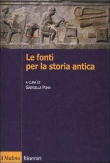 Le fonti per la storia antica.pdf
