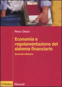 Economia e regolamentazione del sistema finanziario - Marco Onado - copertina
