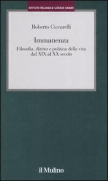 Amatigota.it Immanenza. Filosofia, diritto e politica della vita dal XIX al XX secolo Image