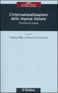 L' internazionalizzazione delle imprese italiane. Contributi di ricerca - copertina